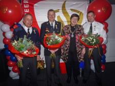 Lintjes voor brandweerlieden