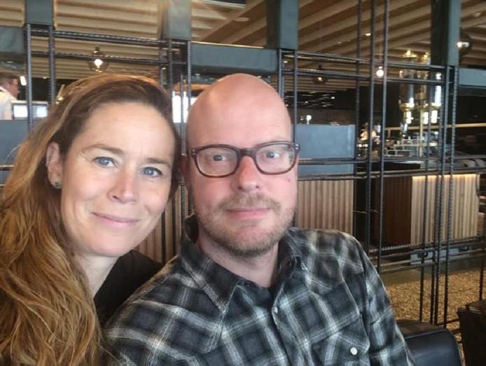 Shirley Bastiaans met haar partner Stefano Oosthof.