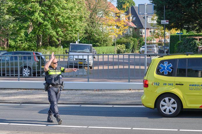 Kettingbotsing met 4 auto's op de Johan Willem Frisolaan in Breda.