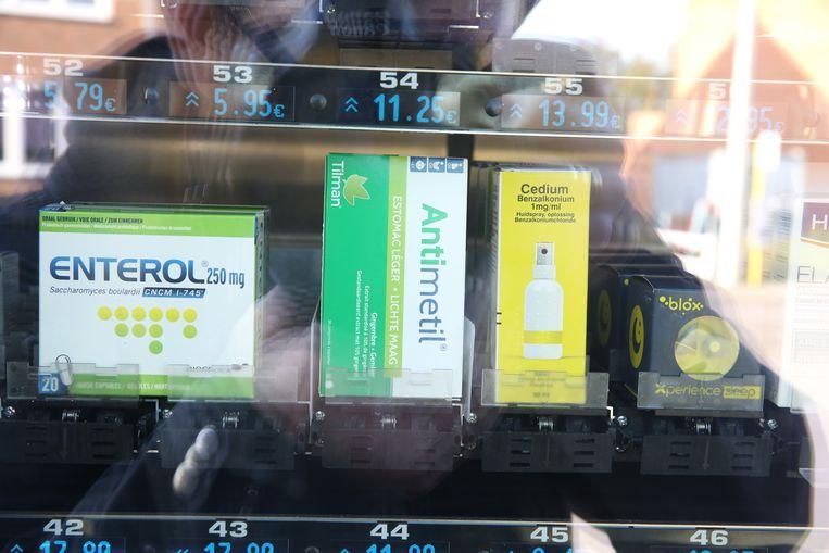 In de automaat van apotheek Beaujean Don Bosco kan je allerlei niet-geneesmiddelen vinden.