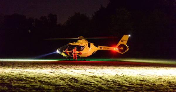 Traumaheli landt in Apeldoorn voor ongeluk aan Noorderlaan.