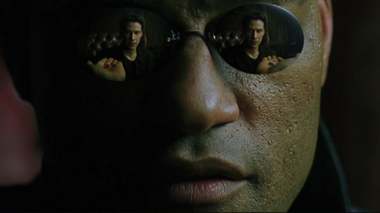 Laurence Fishburne als Morpheus in The Matrix. Beeld
