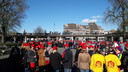 Het doel was om 1750 mensen bijeen te brengen op het Kasteelplein