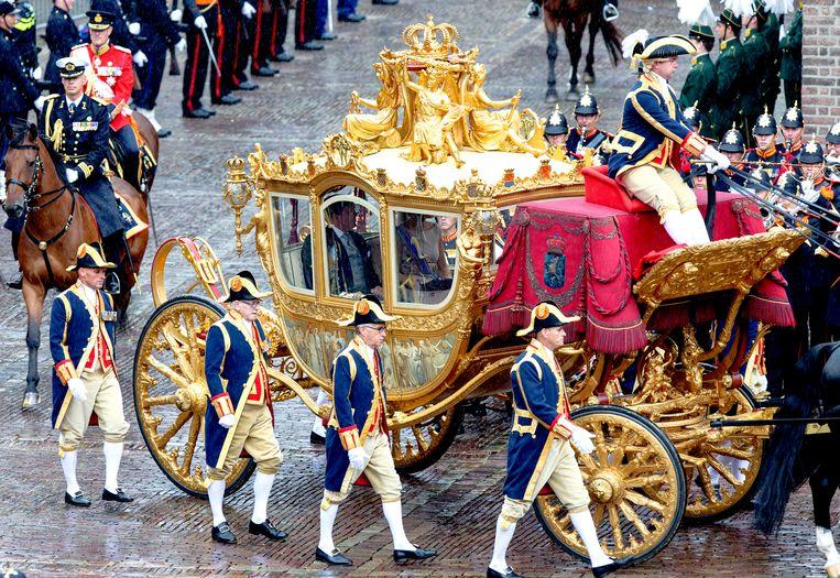 De Gouden Koets komt na de restauratie tijdelijk in het Amsterdam Museum te staan.  Beeld ANP