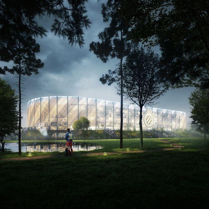 Het nieuwe stadion van Club Brugge zal er zo uitzien.