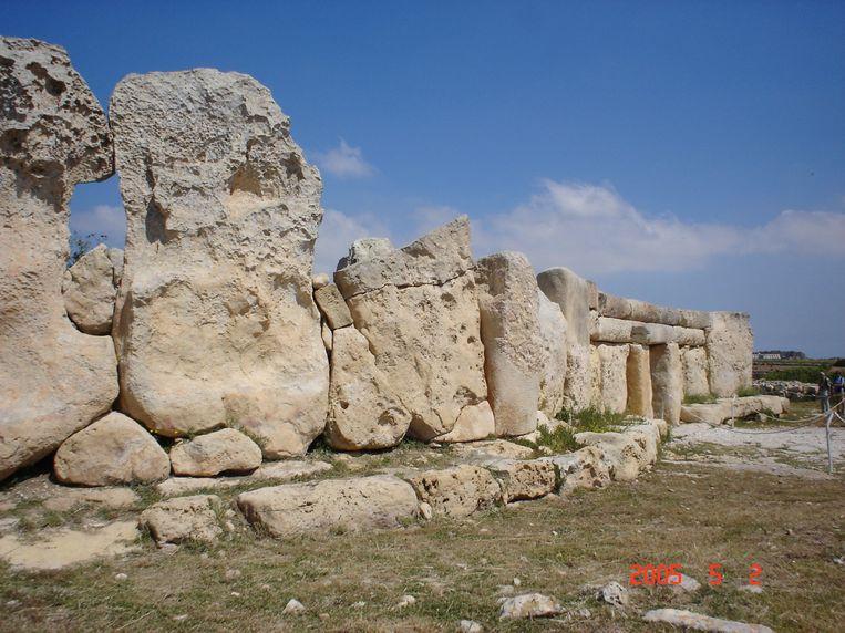 Het noordelijk deel van het Hagar Qim tempelcomplex op Malta zou dateren uit 9150 voor Christus. Beeld x