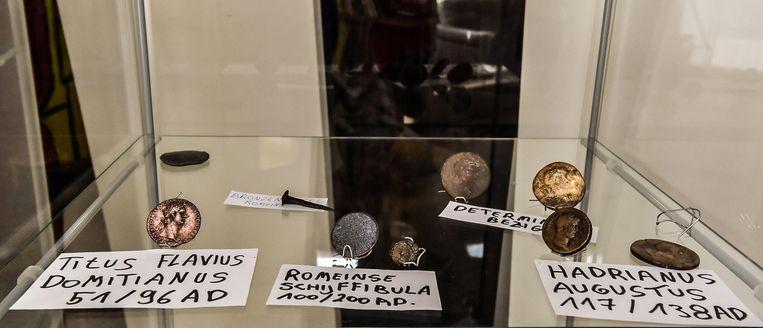 Ook heel wat Romeinse munten in Jimmy's verzameling.