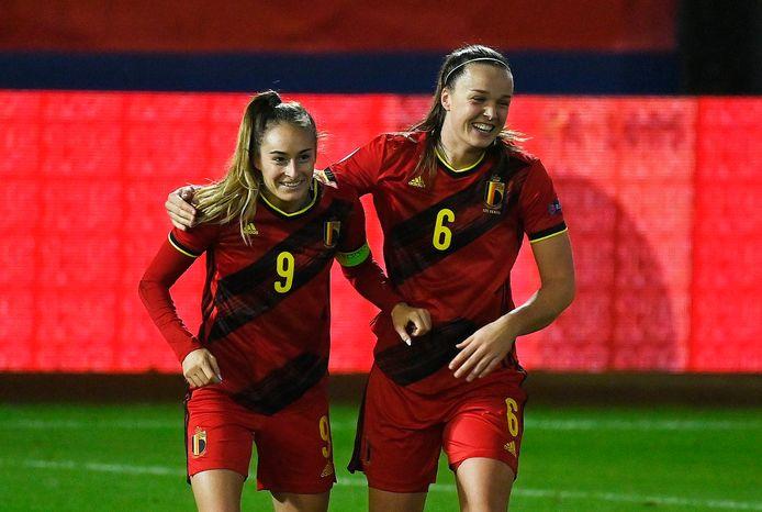 24e et 25e buts en équipe nationale pour Tine De Caigny, qui envoie la Belgique à l'Euro.