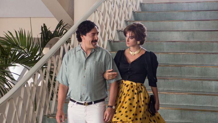 Javier Bardem en Penélope Cruz in Loving Pablo. Beeld