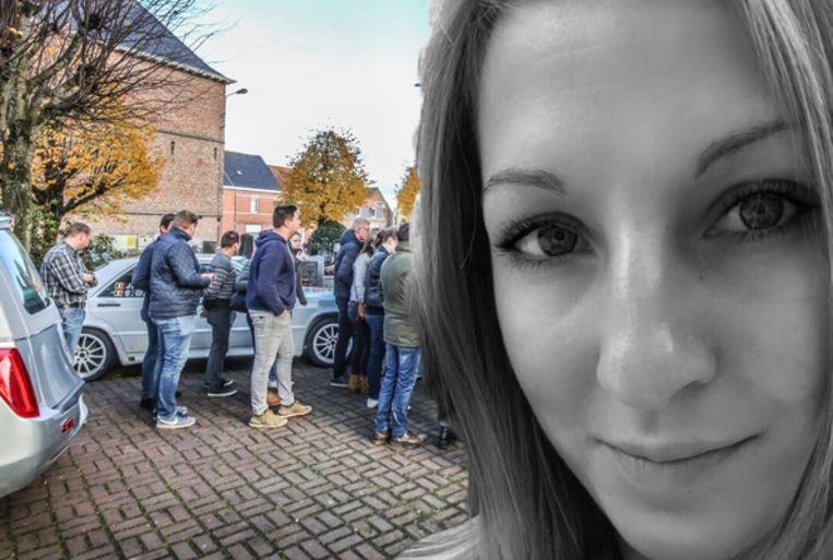 Voor de kerk in Boezinge stond de rallywagen van Sharon en haar vader geparkeerd.
