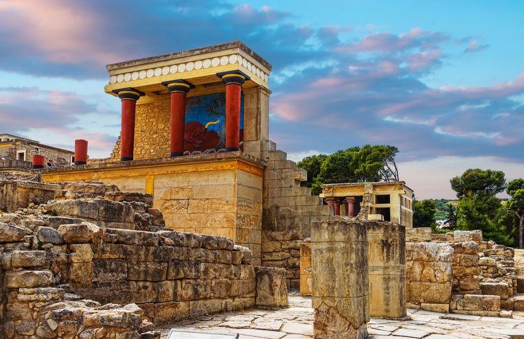 Het paleis van Knossos op Kreta.