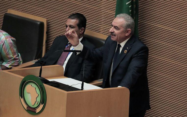 De Palestijnse eerste minister Mohammad Chtayyeh op de UA-top.