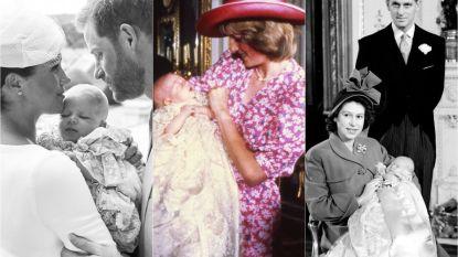 IN BEELD. Zo werden prins Harry, koningin Elizabeth en co. gedoopt