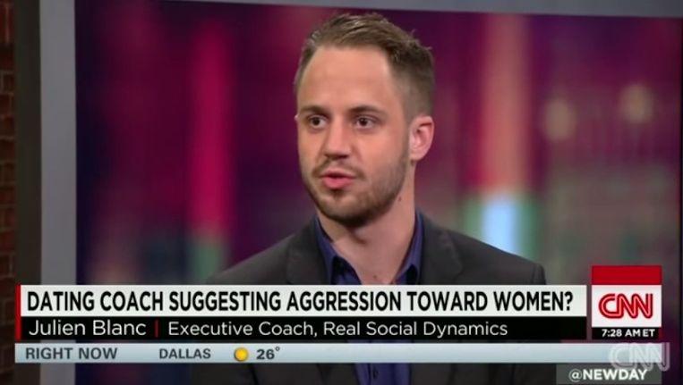 Julien Blanc in een televisie-interview met CNN. Beeld Screenshot CNN