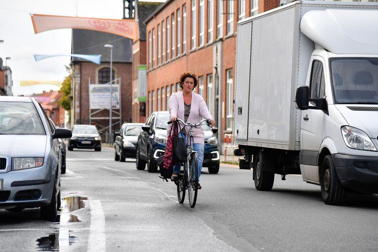 Een belangrijk speerpunt van de mobiliteitsstudie: de Zeelse straten moeten prioritair de veiligheid van fietsers en wandelaars waarborgen.