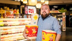 Jeroen (38) verkocht in 2000 als student popcorn bij Kinepolis. Nu is hij er topmanager