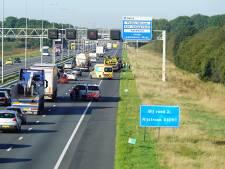 Drie auto's betrokken bij ongeval op de A1 bij Wilp