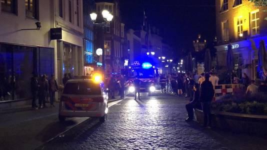 Evacuatie van Plein 79 op de Markt, na een brandje