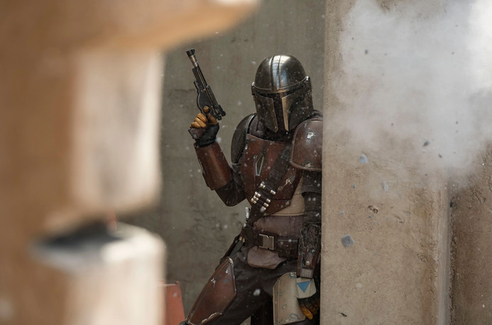 Een scène uit de Star Wars-serie The Mandalorian (Disney+).