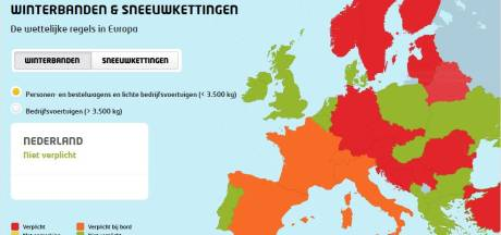 In deze landen zijn winterbanden en sneeuwkettingen verplicht