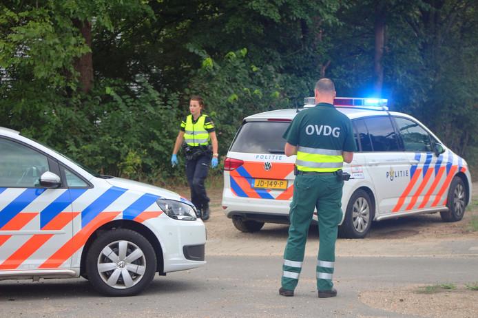 Hulpdiensten in actie vanwege een treinongeluk tussen Vorden en Lichtenvoorde.