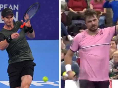 Wawrinka et Murray, dans la douleur, verront le dernier carré à Anvers