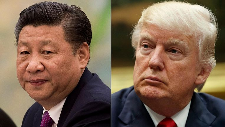 Xi Jinping en Donald Trump. Beeld AP