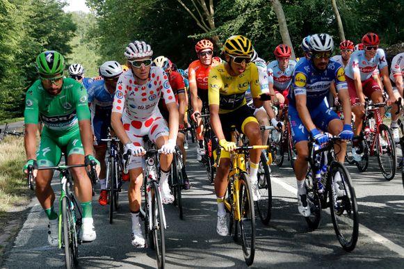 Peter Sagan, Romain Bardet, Egan Bernal en Julian Alaphilippe.
