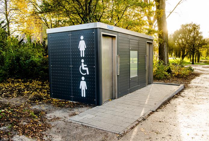 Openbaar toilet in het Vroesenpark.