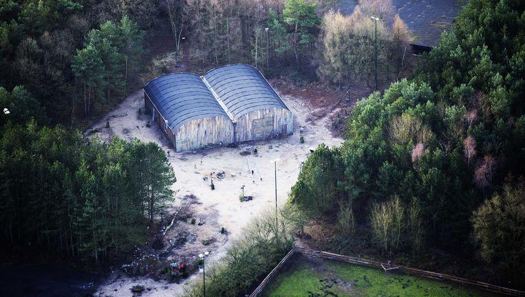 Luchtfoto van het terrein van de Nederlandse Utopia. Beeld anp