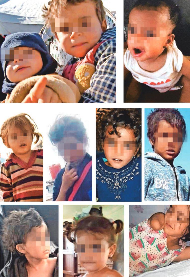 De tien kinderen van IS-strijders bevinden zich nu in het Syrische gevangenenkamp Al Hol. Het jongste is 6 maanden, het oudste 7 jaar.