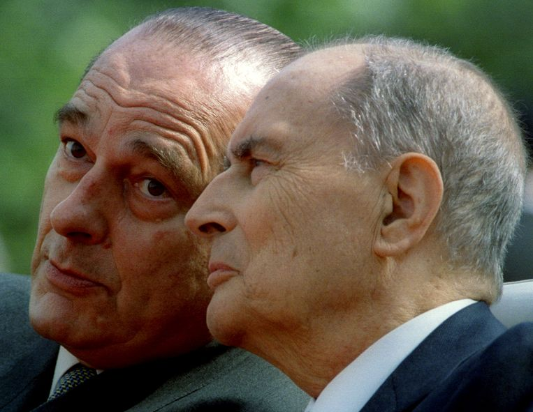 Jacques Chirac met François Mitterrand in 1995.