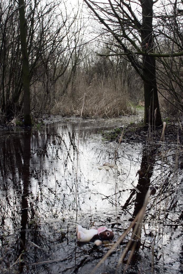Vindplaats van de vermoorde Manon Seijkens (8) langs het kanaal in Helmond.