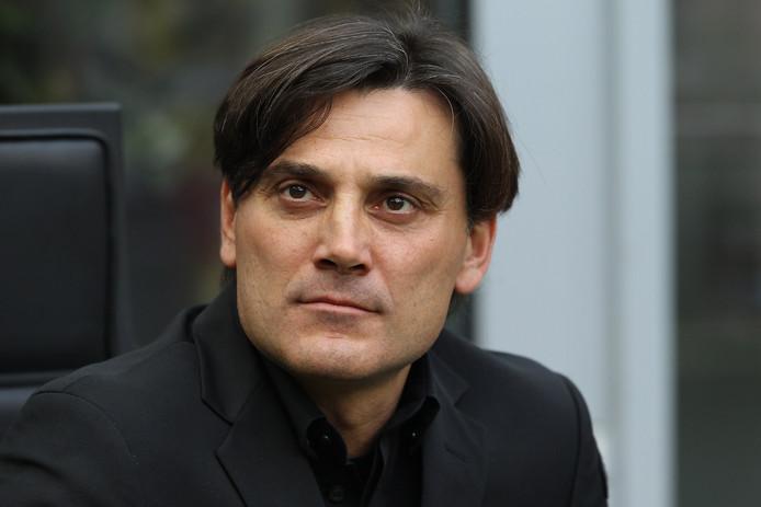 Vincenzo Montella als coach van AC Milan.