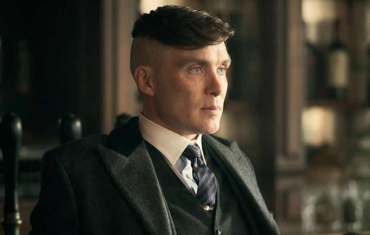 Cillian Murphy als Thomas Shelby in Peaky Blinders. Beeld null