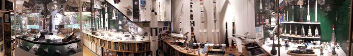Een overzicht van het ruimtevaartmuseum. Foto Janneke Hobo
