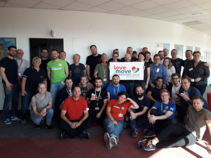 De projectgroep in Boedapest.