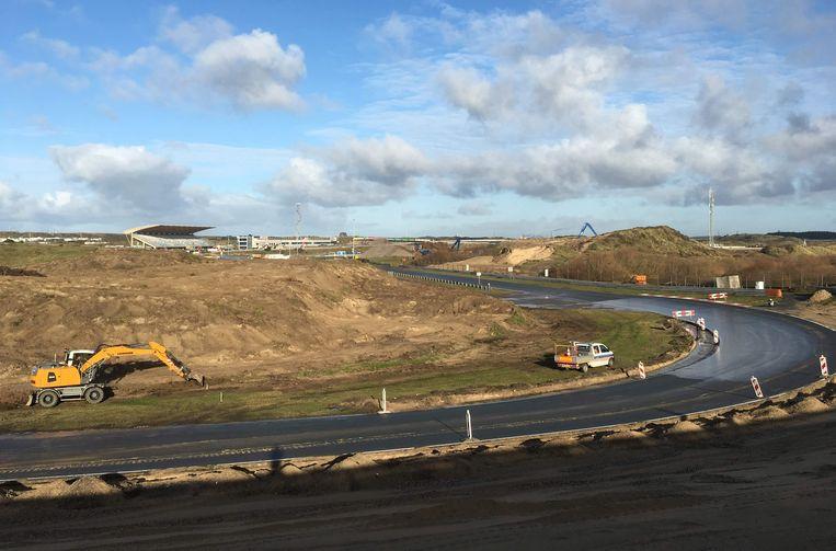 Werkzaamheden op circuit Zandvoort, waar in 2020 de Dutch Grand Prix wordt gereden.  Beeld REUTERS