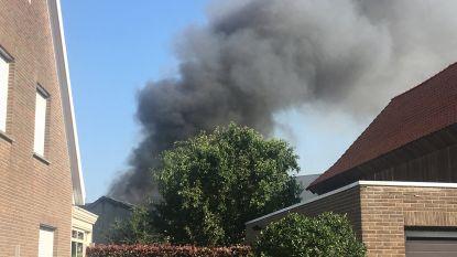 Brand in loods aannemer zorgt voor grote rookpluim in Izegem (+VIDEO)