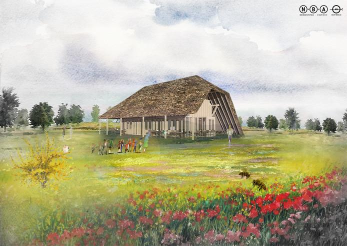 Het ontwerp van het toekomstige multifunctionele gebouw op de Stadsakker.