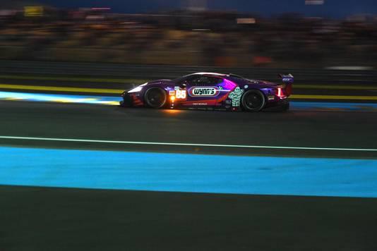 Jeroen Bleekemolen tijdens de 24 uur van Le Mans in 2019. Die won hij in zijn klasse, maar later werd zijn team gediskwalificeerd.