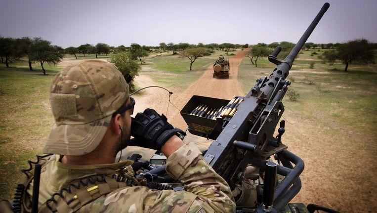 Een Nederlandse militair in Mali. Beeld ANP