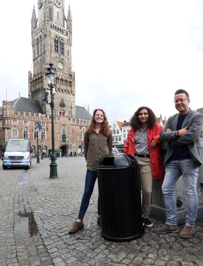 Jong CD&V Brugge pleit voor geluidjes bij vuilnisbakken.