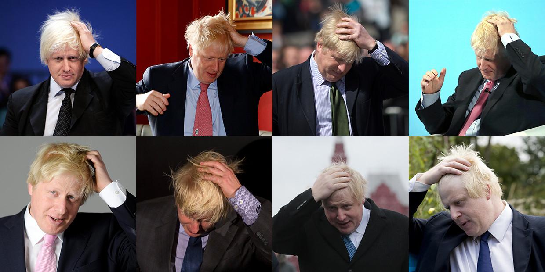 Zijn biograaf onthulde dat het wilde haar van Johnson niet zijn natuurlijke staat is. Het zit netjes gekamd op zijn hoofd, tenzij er camera's in de buurt zijn. Dan doet Johnson snel iets met zijn handen, waardoor het blonde bosje in een ragebol verandert.