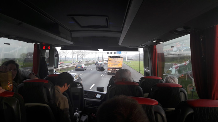 Protestbus onderweg naar Den Haag