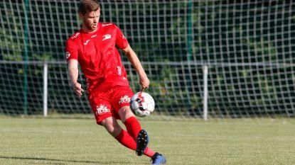 Nicolas Lombaerts eregast op  Royal Knokke FC tegen KVK Westhoek