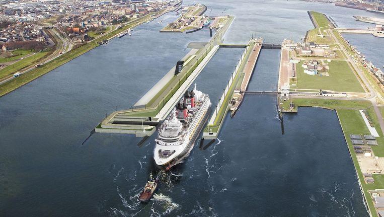 De nieuwe zeesluis Beeld Fotostudio Honing Beverwijk