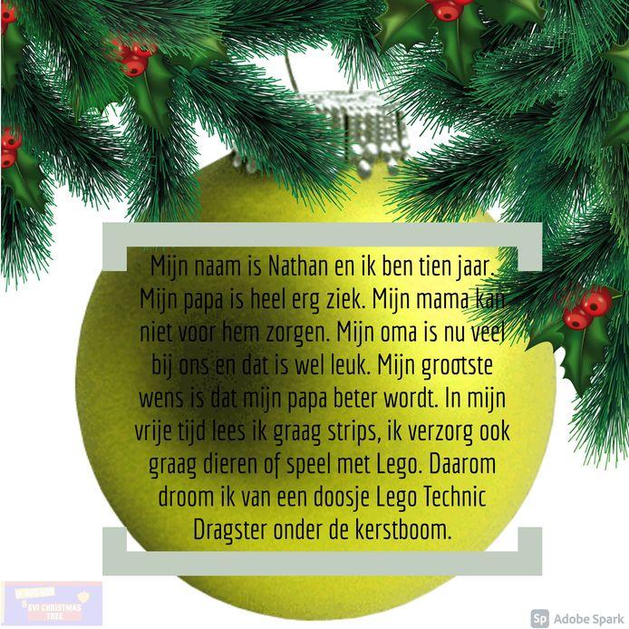 De wensen voor onder de SVI Christmas Tree.