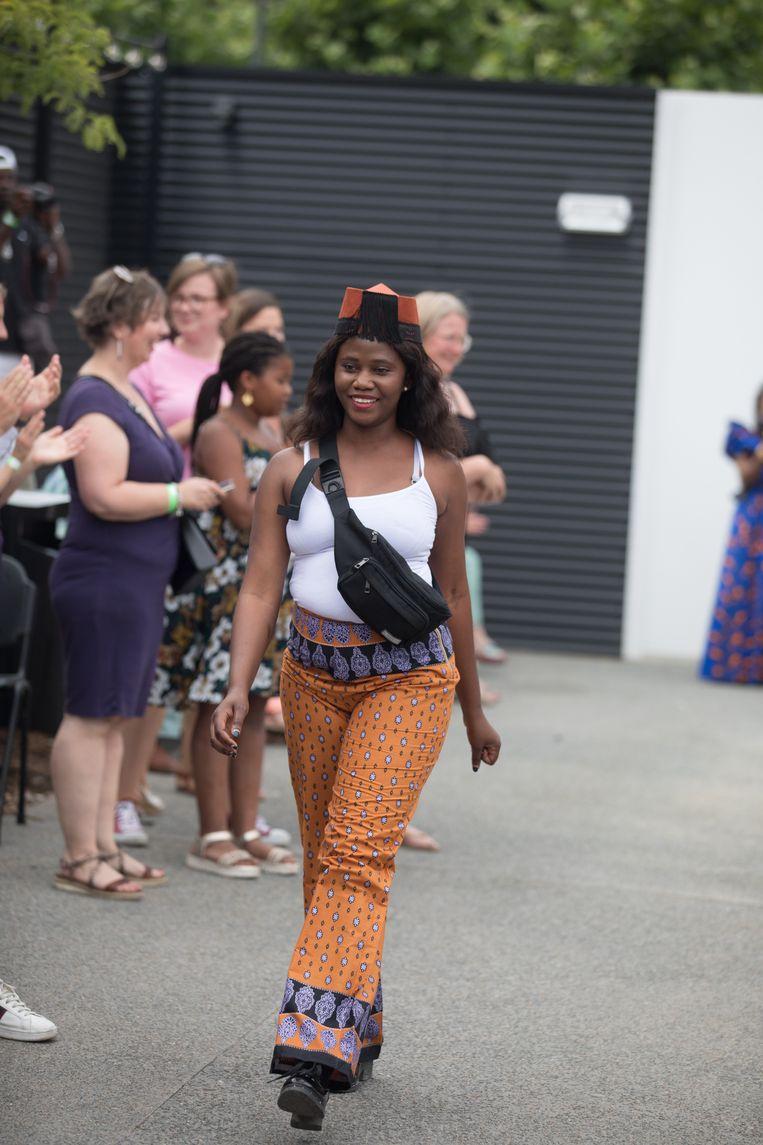 Eerste Africa international festival in Bilzen modeshow