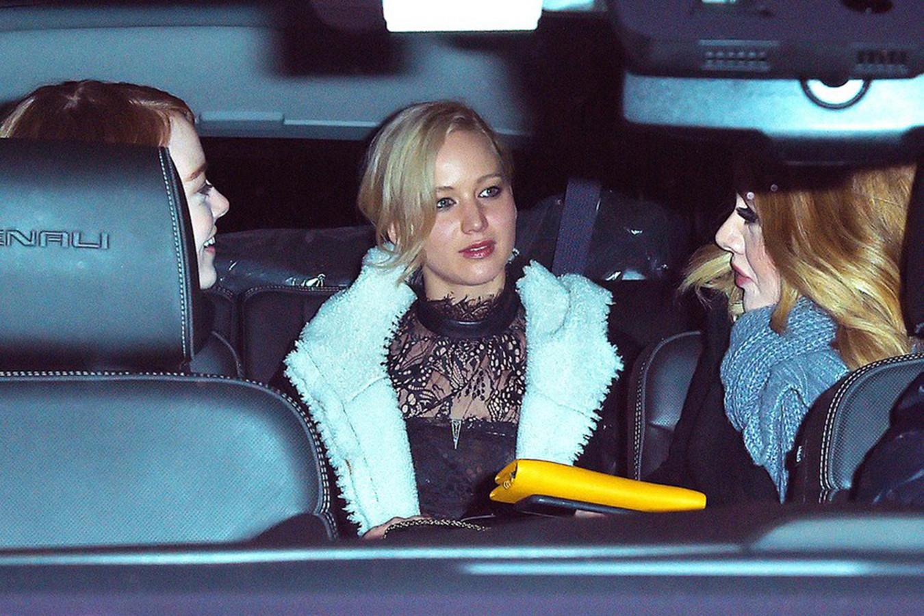 Emma Stone, Jennifer Lawrence et Adele étaient de sortie ensemble, en novembre dernier.